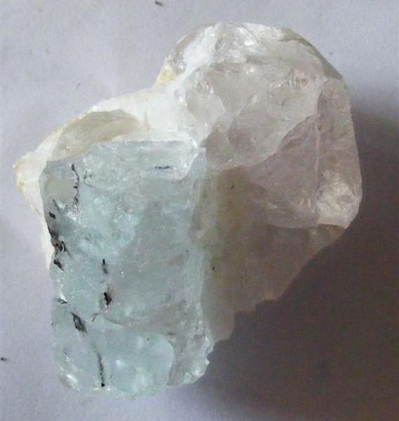 aquamarine and quartz