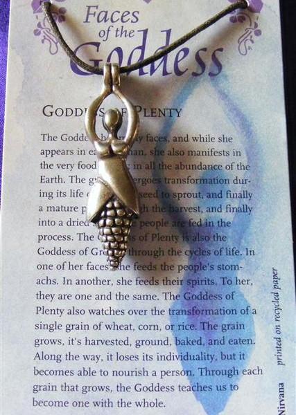 goddess of plenty pendant