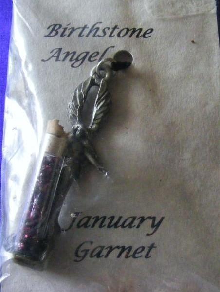 january garnet phial