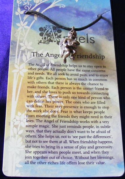 angel of friendship pendant
