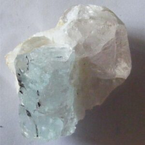 aquamarine and quartz