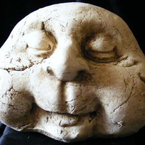 stone man closed eyes
