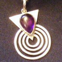Semi precious stone and silver pendants