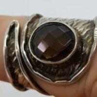 Semi precious stone and silver rings