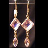 Semi precious stone and silver earrings